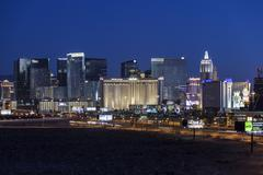 Las vegas strip predawn Stock Photos