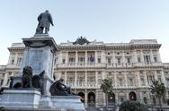 Stock Photo of justice palace and  cavour monument in rome