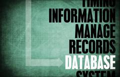 database - stock illustration