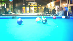 Snooker club time lapse bar scene Stock Footage