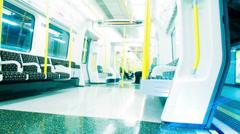 Empty London Underground Tube Carriage Stock Footage