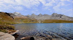 Alpine lake Stock Footage