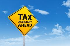 Stock Illustration of tax assistant ahead