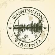 Grunge rubber stamp with washington, virginia Stock Illustration