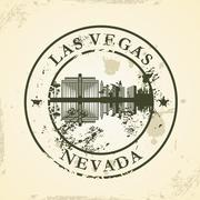 Grunge rubber stamp with las vegas, nevada Stock Illustration