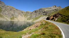 Alpine road Stock Footage