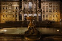 Night life in santa maria maggiore square, rome, italy Stock Photos