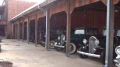 Old Parked Automobiles Stock Footage