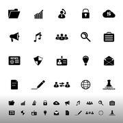 General document icons on white background Stock Illustration