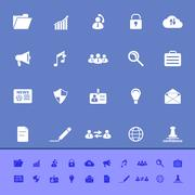 Stock Illustration of general document color icons on blue background