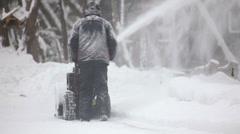 Snow removing Stock Footage