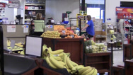 Stock Video Footage of interior grocery store entrance ZO