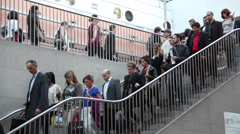 People walking down the stairs. Stock Footage