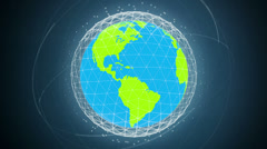 Global communication network looped high defenition - regular colors version Stock Footage