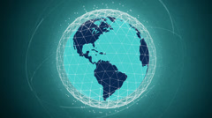 Global communication network looped high defenition - blue version - stock footage
