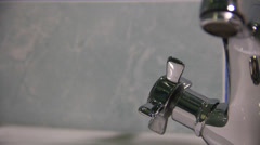 Home appliances. Water for the man in the house. - stock footage