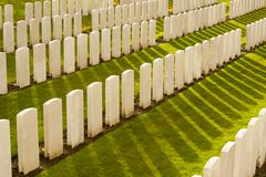 Tyne cot cemetery first world war flanders belgium Stock Photos