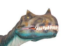 scary isolated dino dinosaurs t rex - stock photo