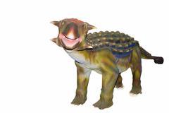 scary isolated dino dinosaurs - stock photo