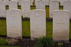 Military cemetery 1st world war flanders Stock Photos