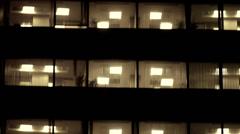 Business Center lights tilt Stock Footage