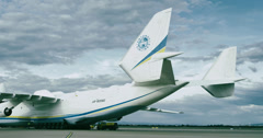 4K Antonov 225 Mriya airplane Stock Footage