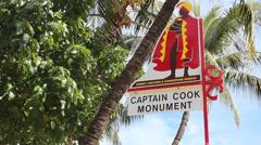 Hawaii Captain Cook Monument Waimea Stock Footage