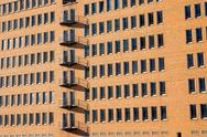 Stock Photo of Modern brickwall facade in Hamburg