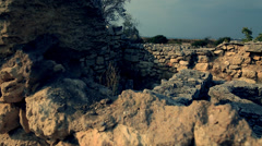 Antique town Khersones. The ancient temple with the well Stock Footage