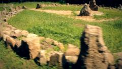 Ancient pagan temple Stock Footage