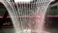 The Fountain of Wealth at Suntec City Mall, Singapore Stock Footage