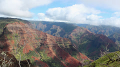 Waimea Canyon Kauai Hawaii Stock Footage