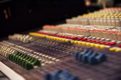 Stock Photo of Music Console Mixer