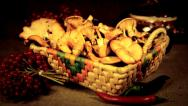 Stock Video Footage of Ukrainian still life- The chanterelles