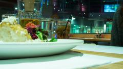 Time lapse Restaurant dinner Stock Footage