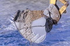 Stock Photo of dredging with an excavator