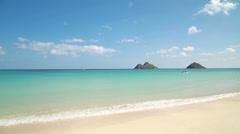 Lanikai beach in Oahu Kailua Hawaii Stock Footage