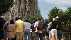 Temple of the holy family. Sagrada Familia- Barcelona-Spain) Stock Footage