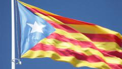 Catalan Independence flag Stock Footage
