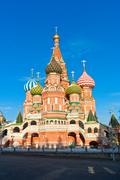 Saint Basil Cathedral  in Moscow Stock Photos