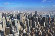 Stock Photo of aerial shot of midtown manhatta