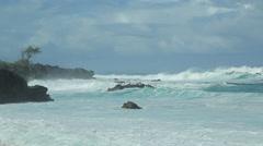 Ocean wave tide - stock footage