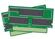Stock Illustration of 2 digital memory devices