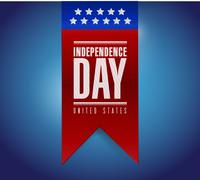 Stock Illustration of independence day banner sign illustration