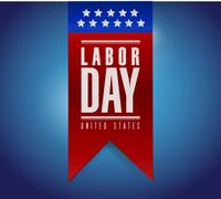 labor day banner sign illustration design - stock illustration