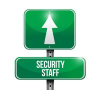 security staff sign illustration design - stock illustration