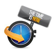 the time is now illustration design - stock illustration