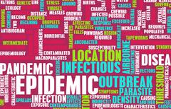 epidemic - stock illustration