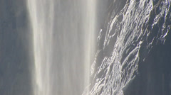 Veil of water, Waterfall Staubbach, Lauterbrunnen Stock Footage