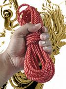 nylon rope - stock photo